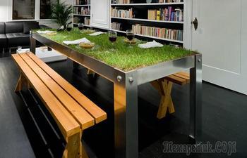 Новинка в дизайне интерьеров: «живая» мебель, которая привлекает внимание