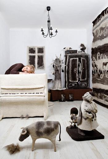 Войлочные скульптуры Ирины Андреевой