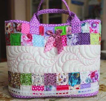 Шьем сумку-корзинку для девочки «Розовый сон»