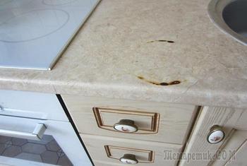 9 вещей, которые немилосердно сокращают срок службы кухонной столешницы