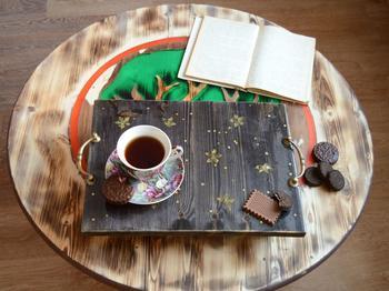 Создаем деревянные поднос «Доброе утро, моя дорогая...»