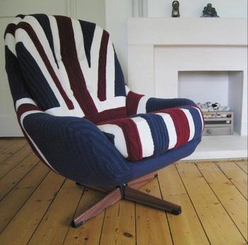 Оригинальные идеи вязаной мебели