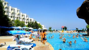 Болгарское побережье Черного моря 12. Комплекс Албена - отели, бассейны