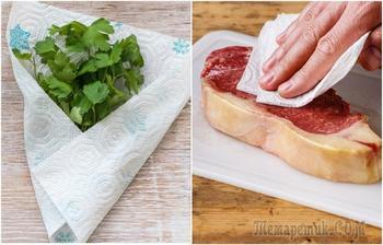 10 лайфхаков с использованием бумажных полотенец, которые облегчат жизнь хозяйкам