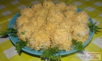 Закусочные шарики из печени трески