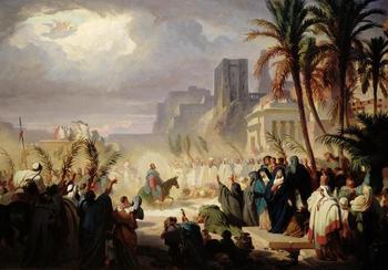 Вход Господень в Иерусалим (Вербное Воскресенье) в мировой живописи, иконах, песнопениях