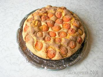 Абрикосовый пирог. Очень простой рецепт, универсальное тесто!
