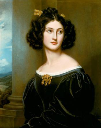 Прекрасная Нанни, увековеченная в галереи красавиц Людвига.