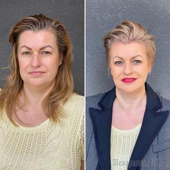 18 женщин до и после стрижки от парикмахера из Литвы