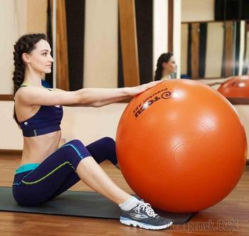 Упражнения на мяче для похудения — взрослые игры для стройности