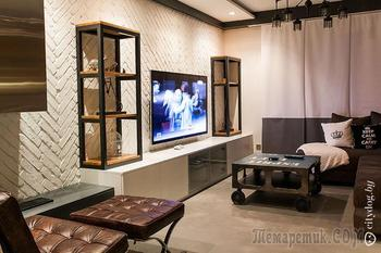 Двухуровневая квартира с экологичным дизайном для семьи с двумя детьми