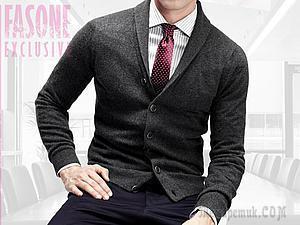 Вяжем кашемировый кардиган «Mr. Grey»