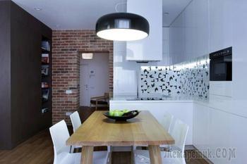 Интерьер квартиры-студии 56 кв. м.