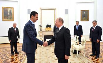 Путин встретился с президентом Сирии Асадом в Кремле