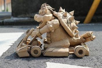 Потрясающие скульптуры из обычных картонных коробок