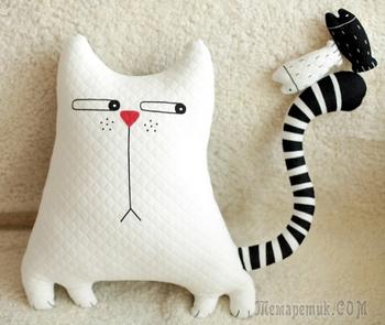 Подушка кот своими руками: выкройки, фото идеи, видео мастер-классы