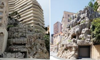 Огромная скала среди современных высоток Монако обернулась роскошной виллой в 6 этажей