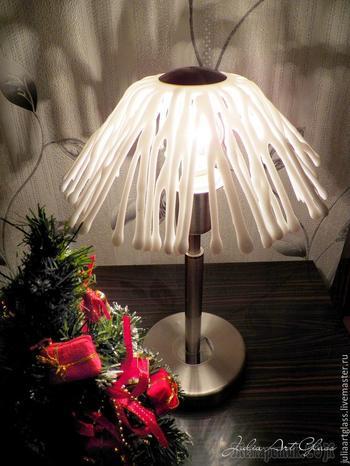 Делаем абажур для лампы в технике фьюзинг