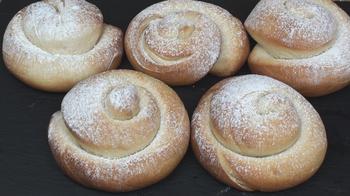Испанские булочки 'Ensaimadas' с заварным кремом! Рецепт