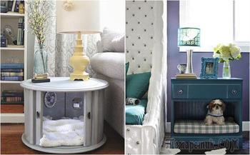 15 стильных кроватей-тумбочек для домашних питомцев