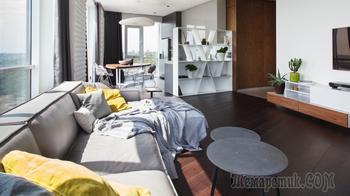 Интерьер квартиры 107 кв.м в современном стиле