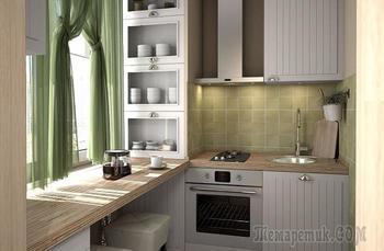 6 советов, как оформить кухню площадью 4 кв. м. в хрущевке