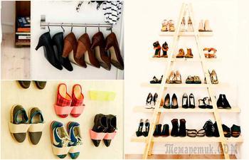 19 практичных идей хранения обуви
