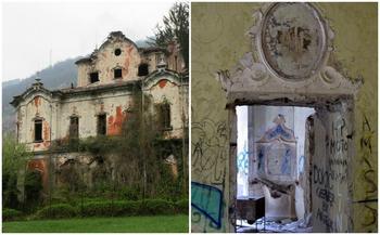 Прогулка по заброшенной итальянской вилле с жутким прошлым