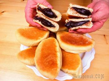 Без духовки! Бесподобные булочки с кремом на сковороде