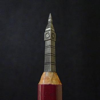 Японский художник превращает карандаши в крошечные и детализированные произведения искусства