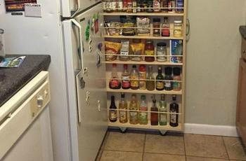 Превращаем крошечное пространство на кухне в идеальную кладовку для специй