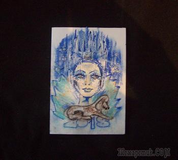 """Новогодние самодельные открытки  и картинка """"Королева-Зима"""""""