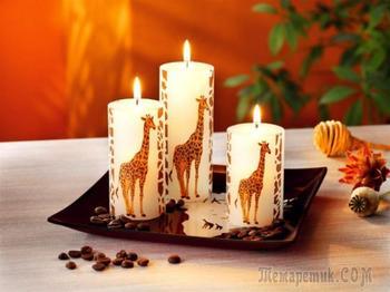 Декупаж свечей: мастер-классы с идеями праздничного декора