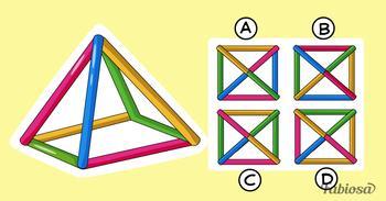 Загадка на внимательность: как будет выглядеть эта пирамида сверху?