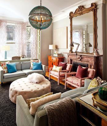 Эклектичная квартира в Нью-Йорке