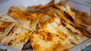 Чипсы из армянского лаваша с сыром