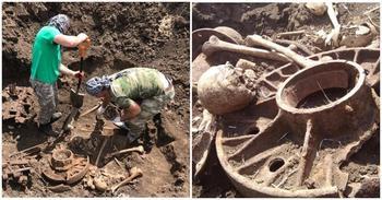 В Ростовской области нашли танк КВ-1 с погибшим экипажем