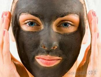 Черная маска для лица от черных точек