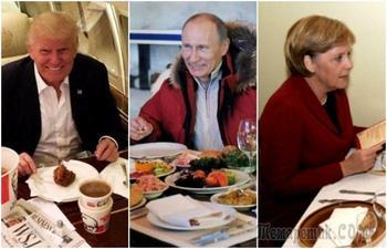 Фаст-фуд или здоровая пища: из чего состоит рацион лидеров государств