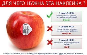 Наклейки на овощах и фруктах — для чего они