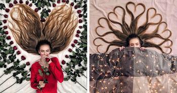 Современная Рапунцель из Голландии создает «картины» с помощью своих волос