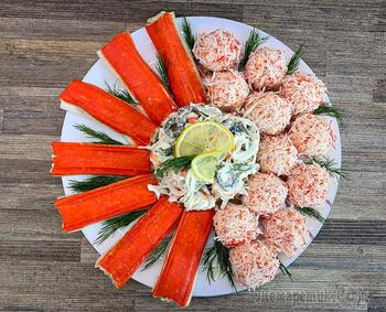 3 блюда из крабовых палочек на праздничный стол