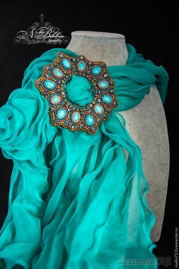 Пряжка многофункциональная: вышивка бисером