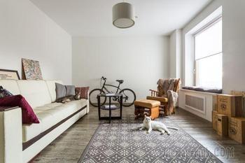 Скандинавский стиль и коты в маленькой квартире в Мневниках