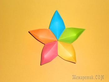 Цветок из бумаги Поделки оригами для детей