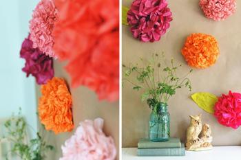 Цветы из салфеток своими руками, пошаговое фото