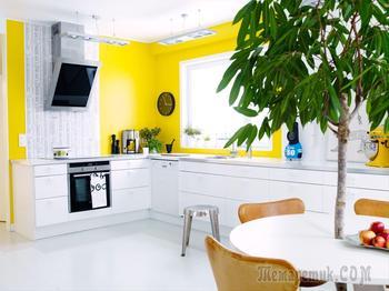 Жёлтые элементы на кухне: идеи для вдохновения