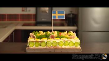 Шведский ТОРТ БЕЗ ВЫПЕЧКИ за 10 минут Smörgåstårta из всего, что есть в холодильнике!