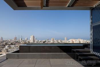 Мужской  пентхауз с бассейном в Тель-Авиве