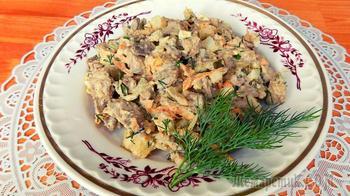 Печеночный салат из куриной печени